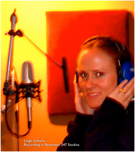 Leigh Stimolo in the studio