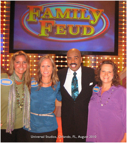 Leigh Stimolo, Family Feud contestant with Steve Harvie